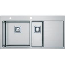 Кухонная мойка Fabiano Quadro TOP 89x15 Left (890*510) 1.2мм