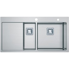 Кухонная мойка Fabiano Quadro TOP 89x15 Right (890*510) 1.2мм